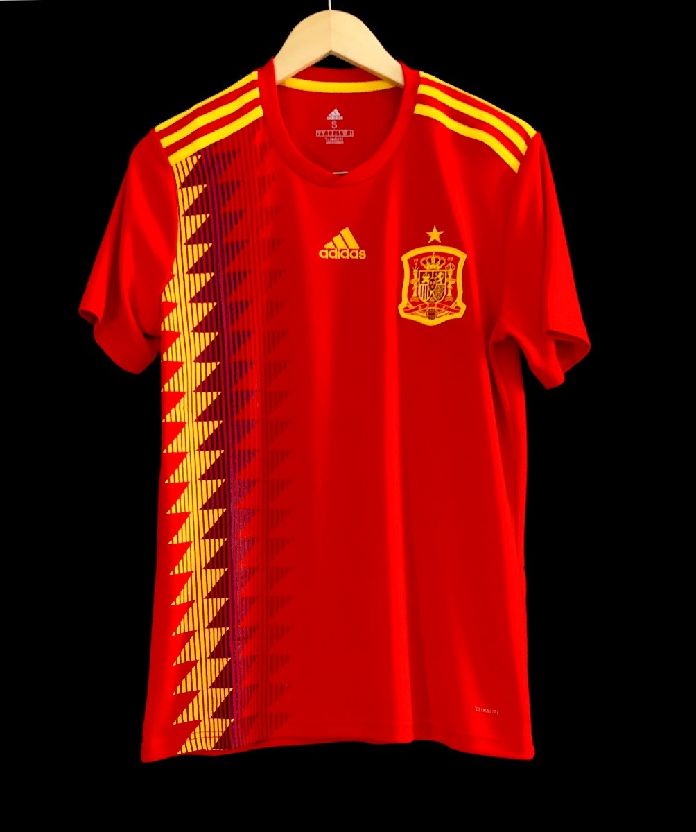 camisa adidas seleção espanha 2018 oficial copa do mundo. Carregando zoom. d75a0f61d73b7