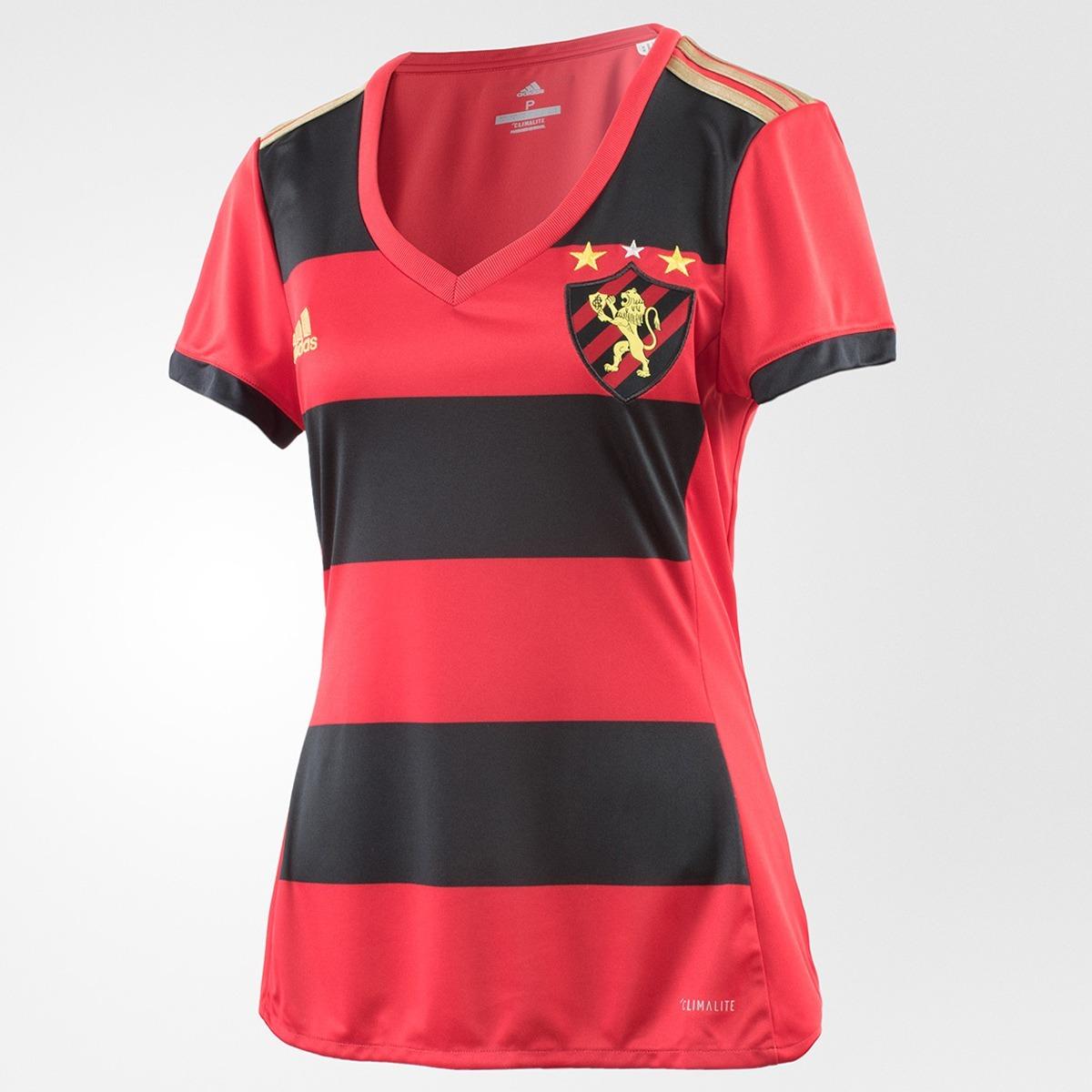 d52e8ac71fe Camisa adidas Sport Recife I 17 18 - Feminina - R  135