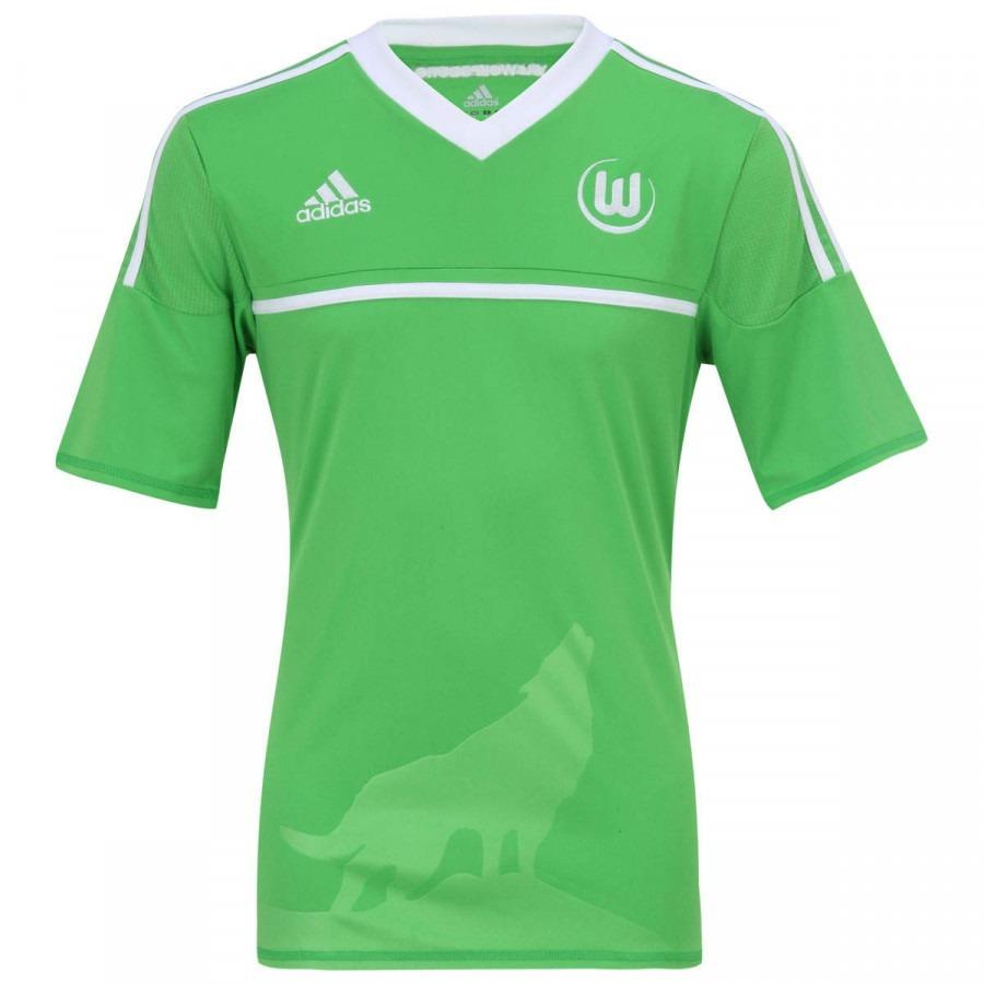 f6892bf807752 Camisa adidas Wolfsburg I Oficial Alemanha Lobo - R  139