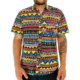Camisa Africana Com Estampa Estilo Africa Camiseta Masculina