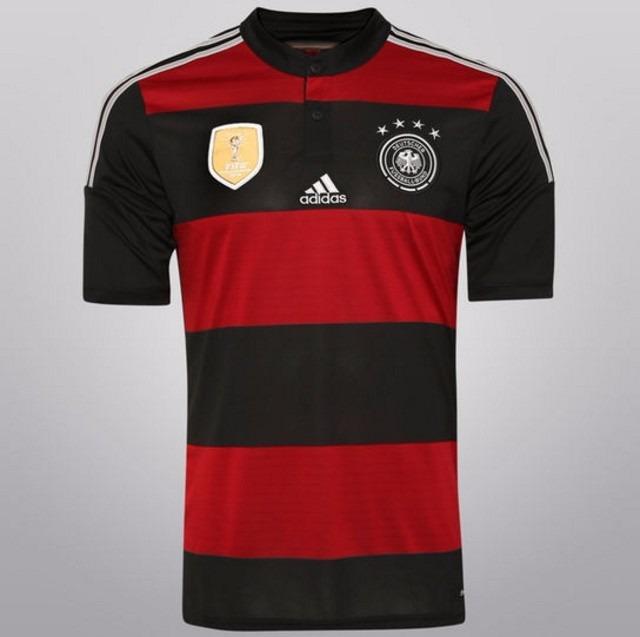 Camisa Alemanha 2 - Tetracampeã Mundial  Rubro Negra - R  149 782b932285fa4