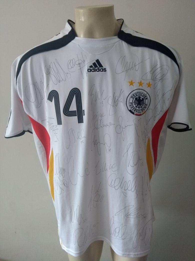 camisa alemanha 2006 copa do mundo - autografada pelo elenco. Carregando  zoom. ede1a74a2c686