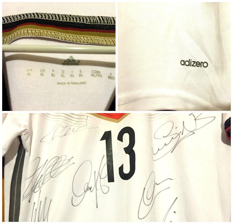 Camisa Alemanha Autografada 7 Campeões Mundiais 2014 - R  699 8c76e947012b4