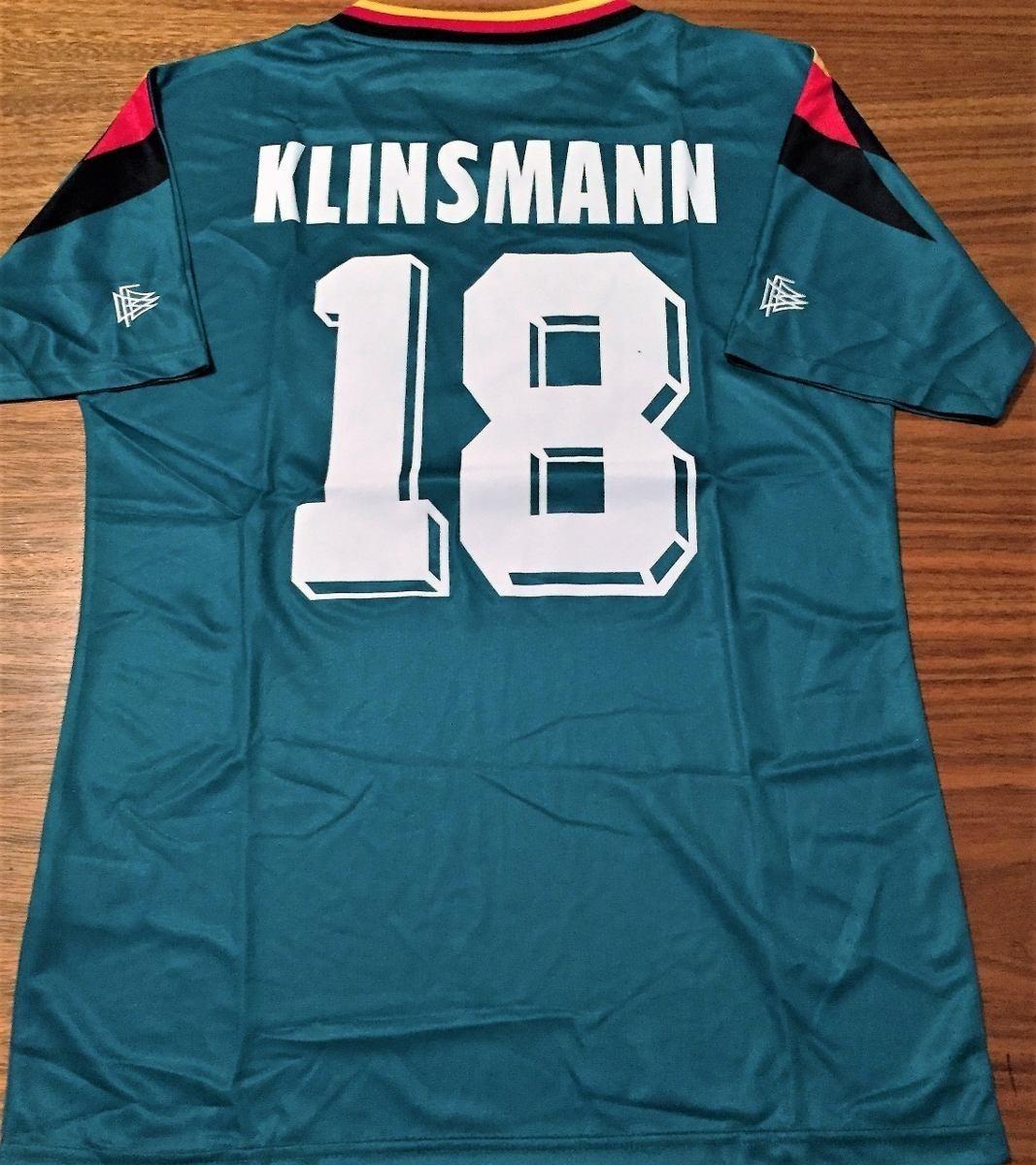 cd254fe2c camisa alemanha copa 1994 klinsmann  18 verde rara. Carregando zoom.