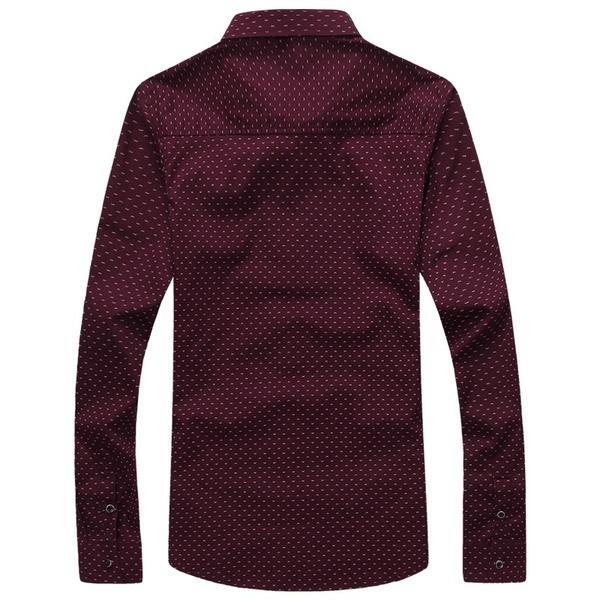 ee2584fd0f Camisa Algodón Hombre Color Vino Tinto Slim Casual -   16.990 en ...