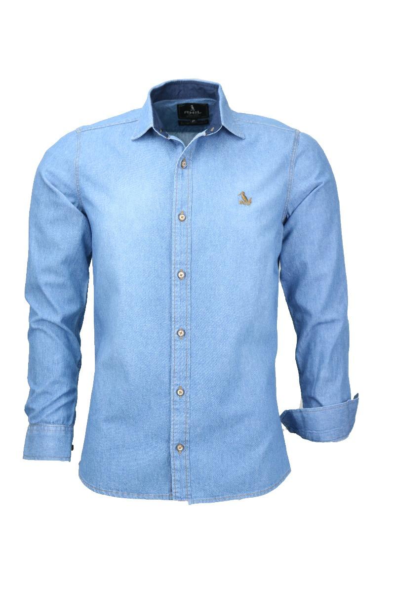 530dbb923d camisa amil mister masculina jeans slim sem bolso original. Carregando zoom.