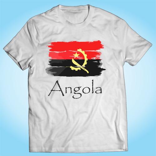 camisa angola bandeira áfrica nação país personalizada