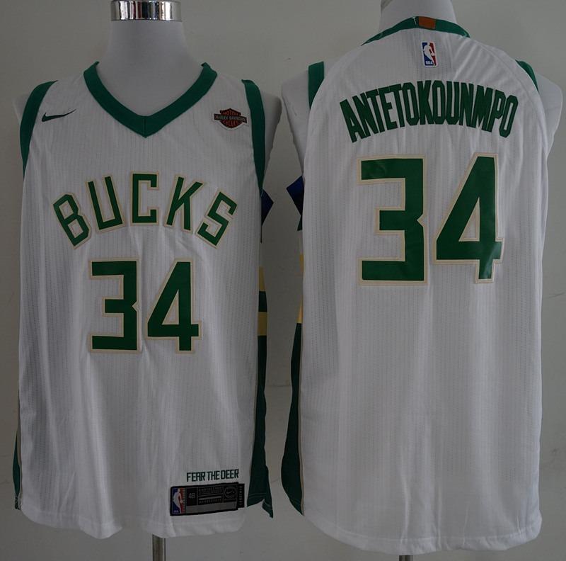 b60778142 Camisa Antetokounmpo 34 Milwaukee Bucks Novo - Frete Gratis - R  180 ...