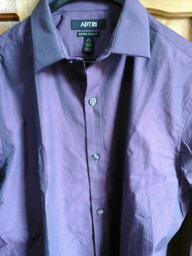 camisa apt.9  talla 15 1/2 usd 40 color morado tornasol