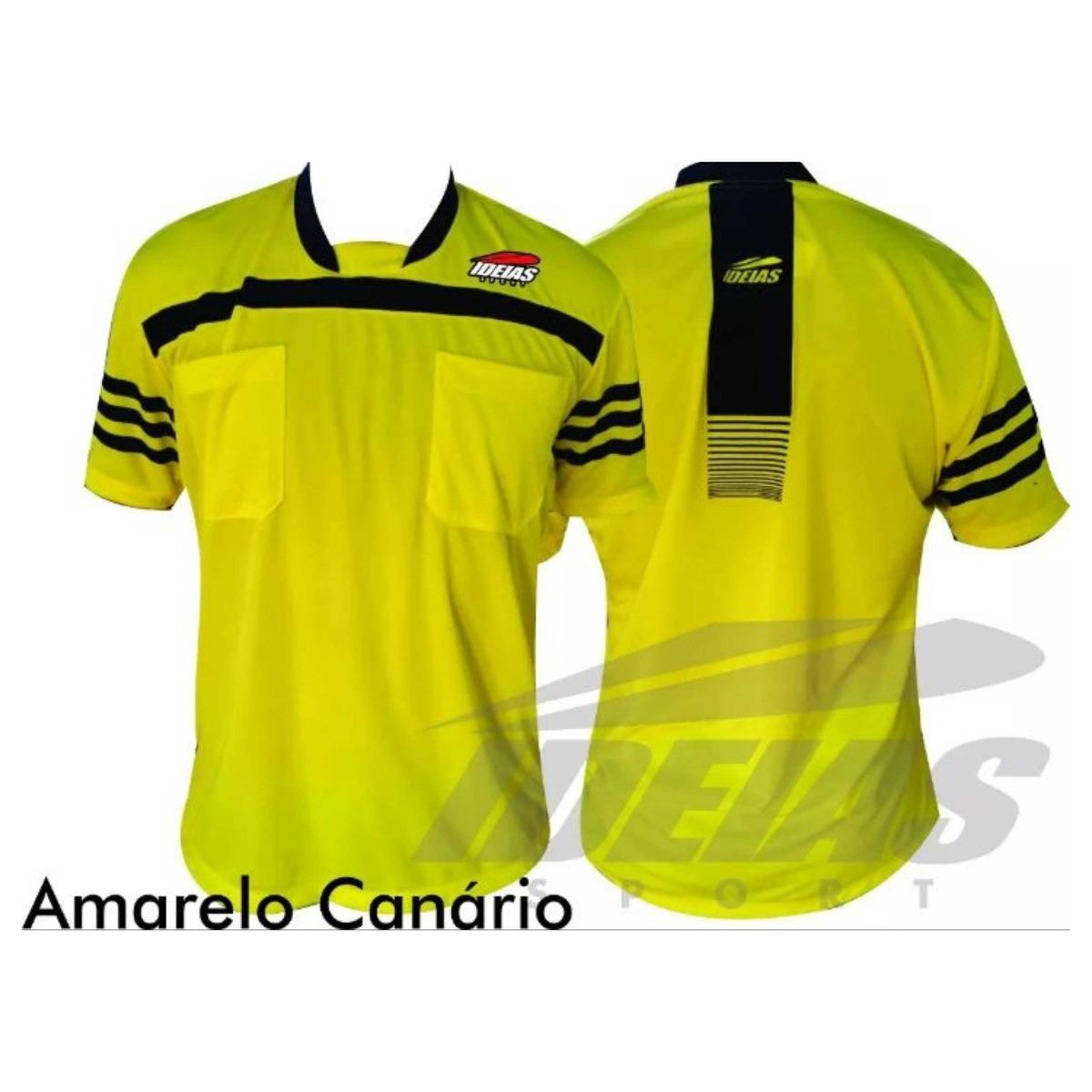 camisa árbitro de futebol arbitragem futsal esporte original. Carregando  zoom. 05e4d24116414