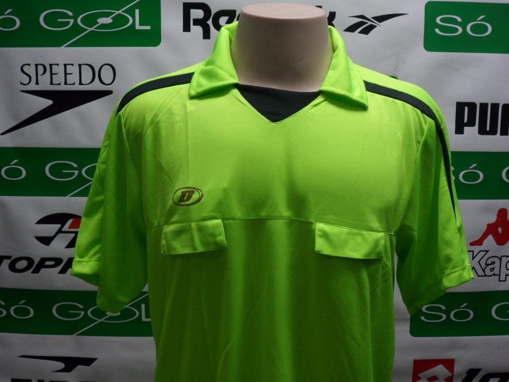 122dd50a52 camisa arbitro dellerba verde oficial com bolso promoção. Carregando zoom.