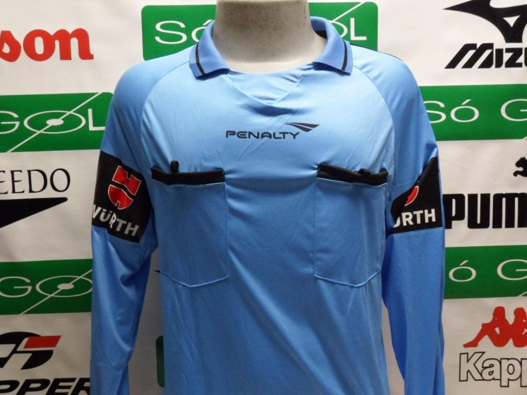5bc95a5192 camisa arbitro penalty oficial manga longa promoção. Carregando zoom.