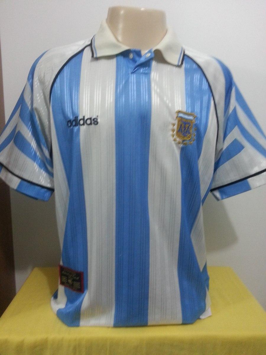2a1668ca341f4 camisa argentina 1996 eliminatórias copa frança impecável-96. Carregando  zoom.
