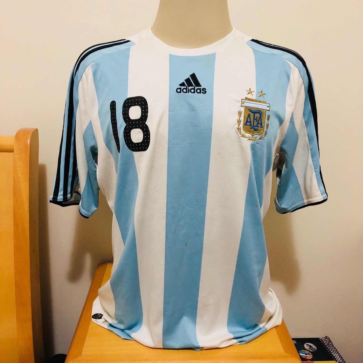 Camisa Argentina 2008 Gg Original adidas  18 Messi Home - R  86 67a90d8dd8547