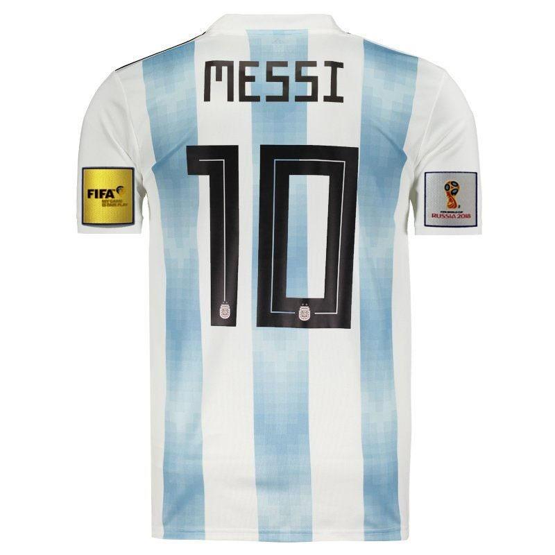 cccc8caeea018 camisa argentina 2018 2019 messi 10 copa oficial promoção. Carregando zoom.