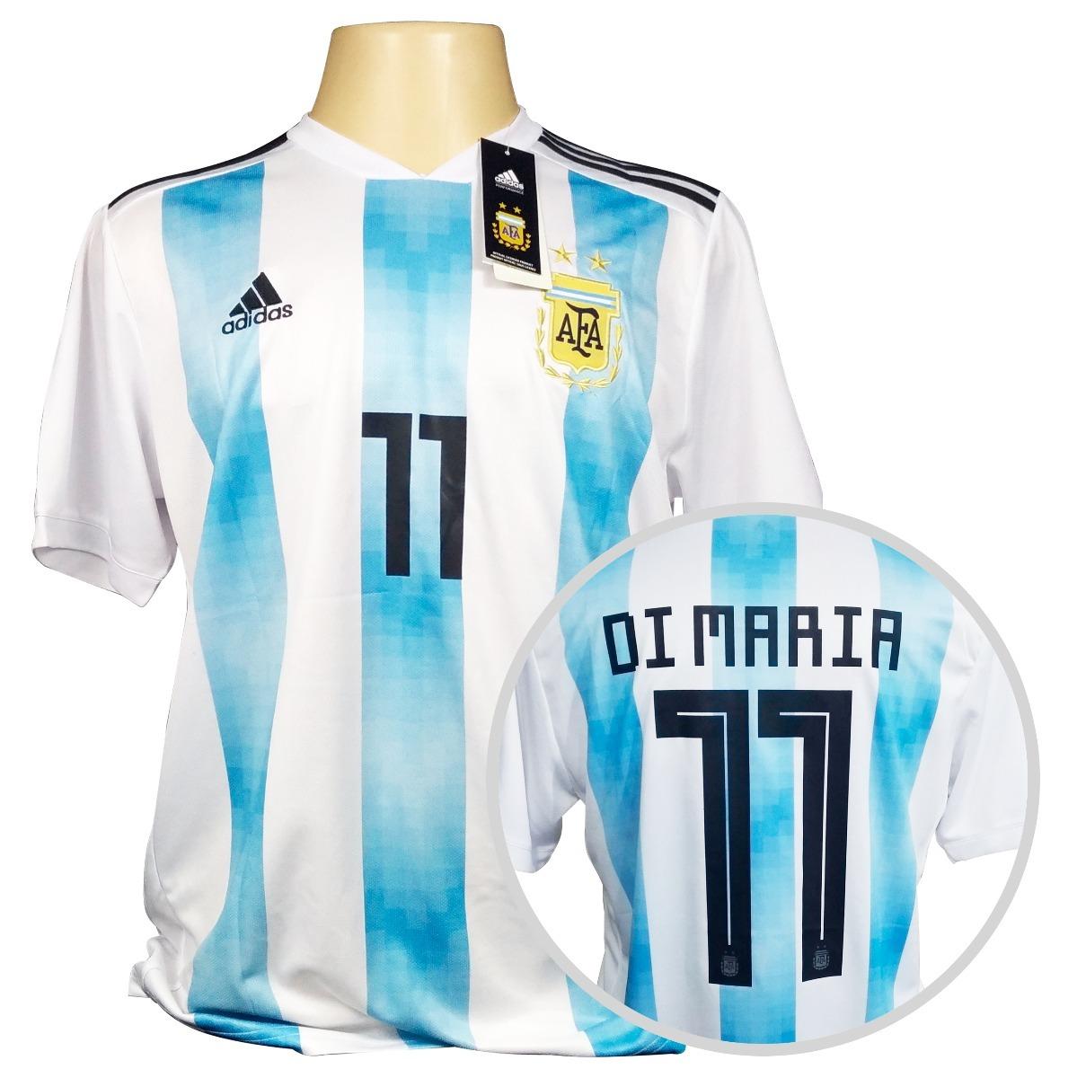 a827929fbb camisa argentina adidas titular copa 2018  11 di maria. Carregando zoom.