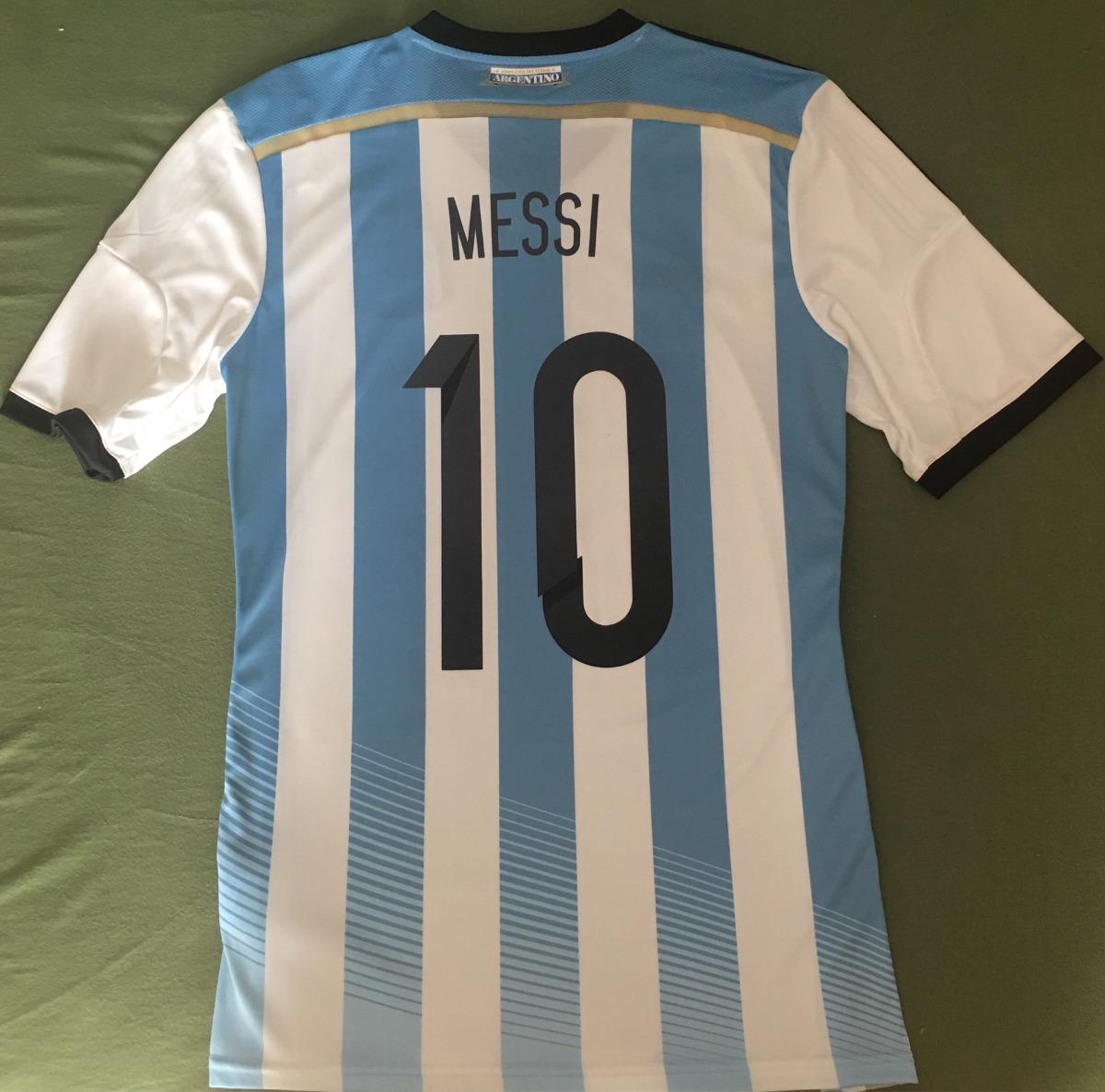 camisa argentina copa de 2014   leo messi   modelo jogador. Carregando zoom. 4b89901cb4e43