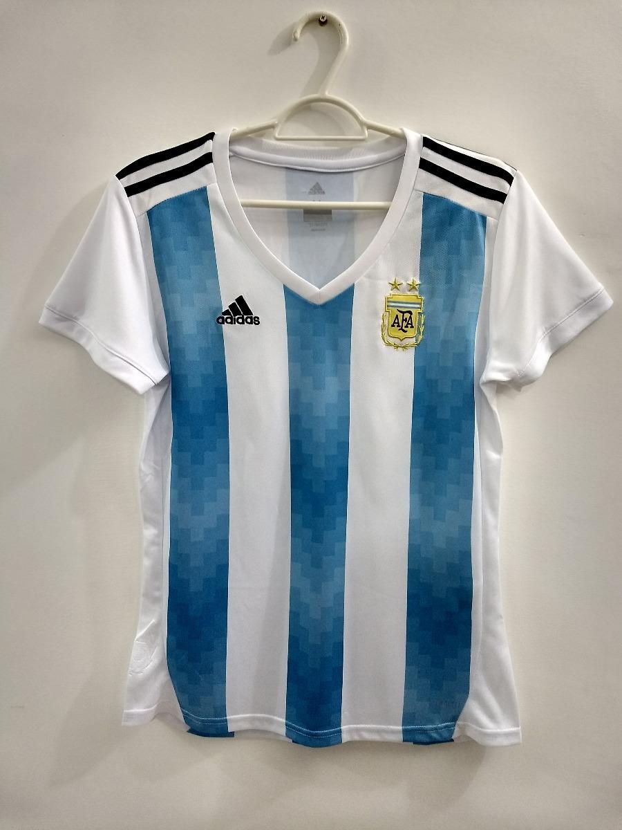 ... camisa argentina feminina copa do mundo 2018 pronta entrega. Carregando  zoom. f1c5afe91e1d3