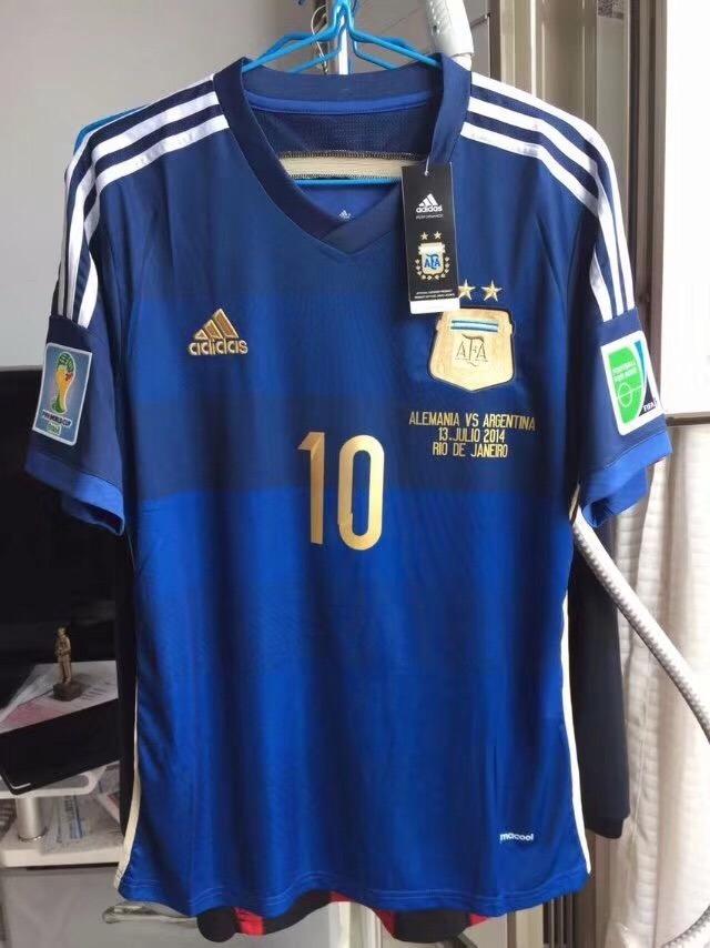 camisa argentina final copa do mundo 2014 messi 10. Carregando zoom. a0b0e7bd8e938