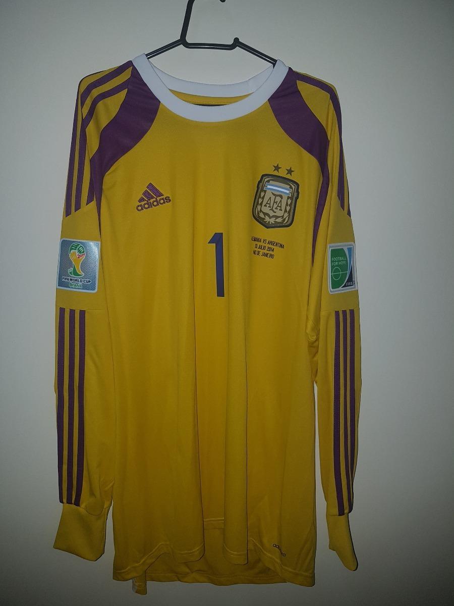 camisa argentina goleiro  1 romero copa 2014. Carregando zoom. 11b962d8c6654