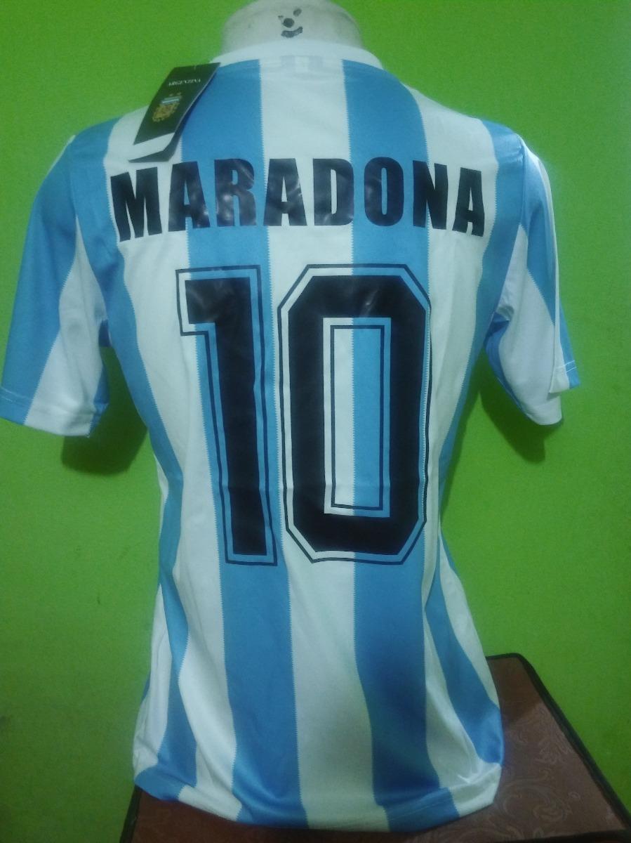 29c3ed0169 camisa argentina retro 1986 maradona 10 importada. Carregando zoom.