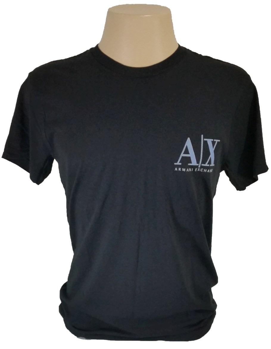 50f148ead31 Camisa Armani Exchange G   L 100% Algodão Original Preta A