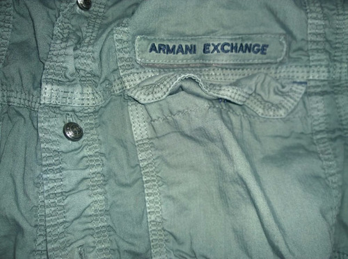 camisa armani exchange talla s tipo militar