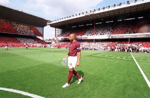 camisa arsenal 2005-06 henry 14 final game highbury