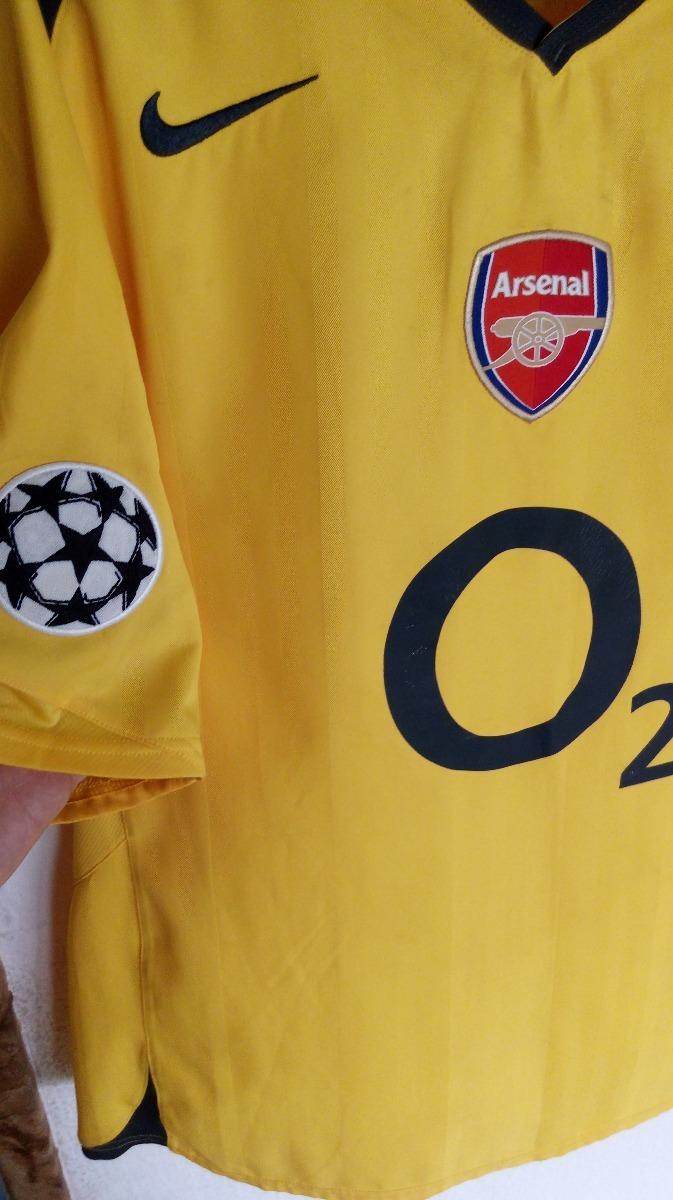 camisa arsenal away - henry - modelo final champions 2006. Carregando zoom. 7235c6a5dbd0c
