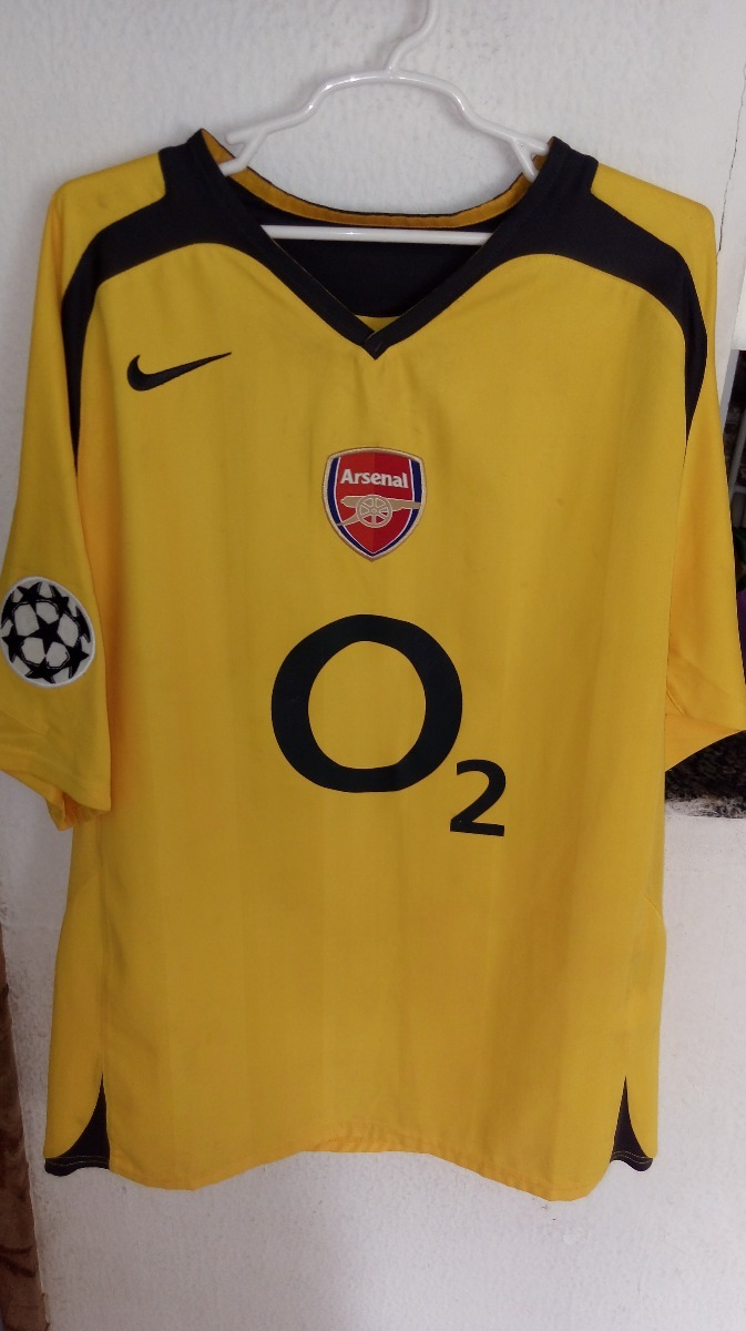 camisa arsenal away - henry - modelo final champions 2006. Carregando zoom. 7235c6a5dbd0c