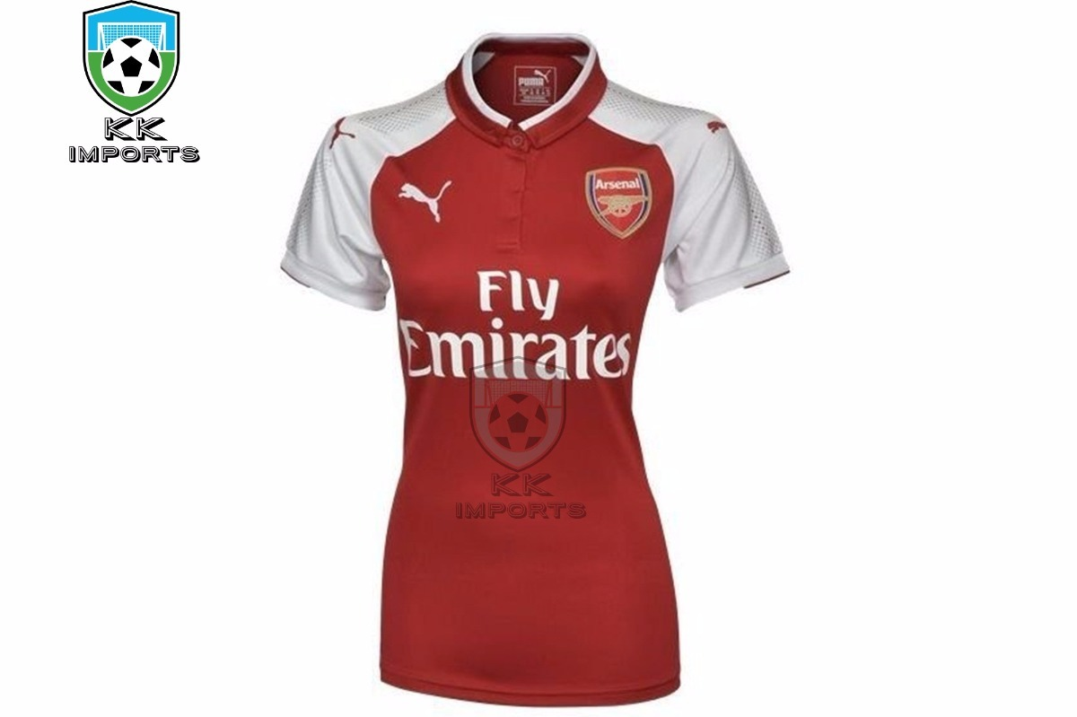 Camisa Arsenal Feminina 2017 2018 Uniforme 1 Sob Encomenda - R  170 ... d60b2a5c8668e