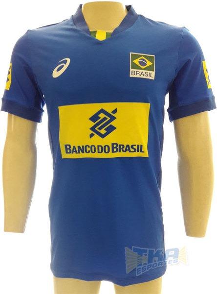 257b377757 Camisa Asics Cbv Masculina Jogo Sn 17 18 Azul - R  179