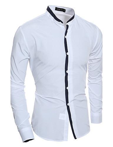 Camisa Asitica Cuello Mao Moda Hombre Ropa Novio Slim Fit -   689.00 . 14797495de3