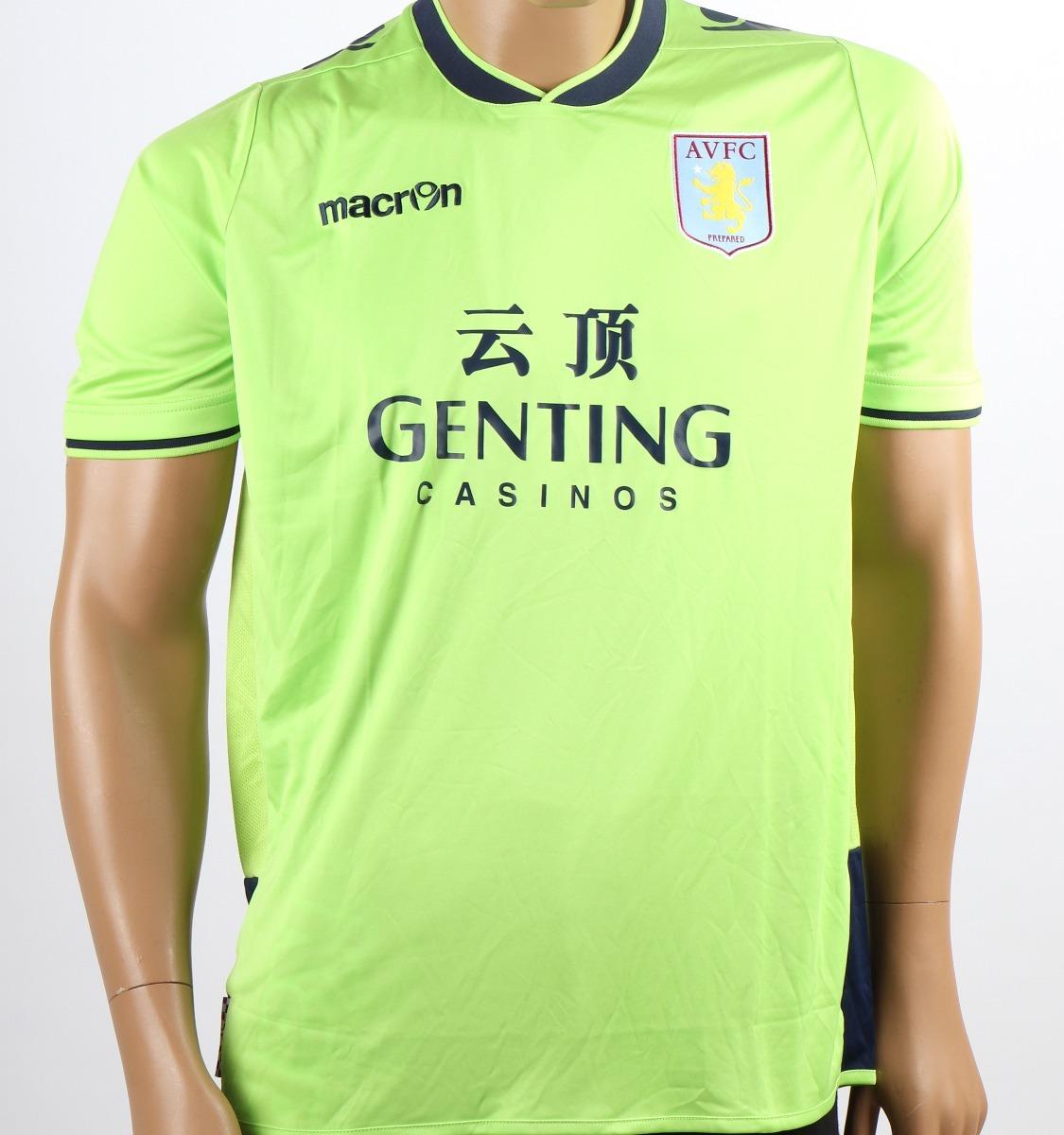 camisa aston villa football club macron - inglaterra. Carregando zoom. baa673f473a92