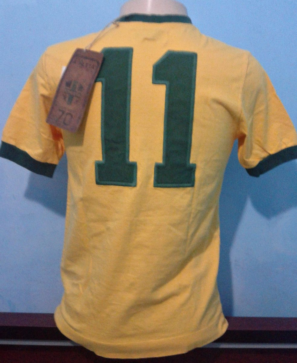 54a87b66a6 camisa athleta seleção brasileira 1970 - rivelino. Carregando zoom.