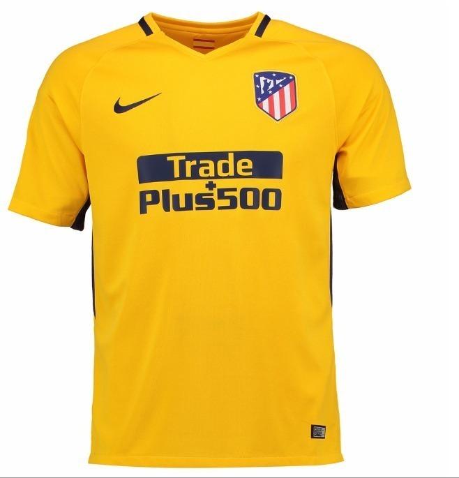 Camisa Atlético De Madrid 17 18 Amarela Uniforme 2 - R  89 c3e12e9e3ae1c