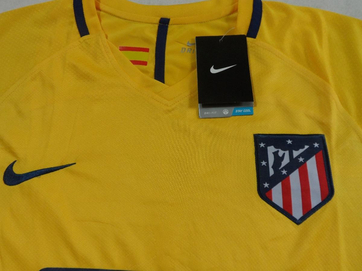 camisa atlético de madrid 17 18 amarela uniforme 2. Carregando zoom. 61359545249e1