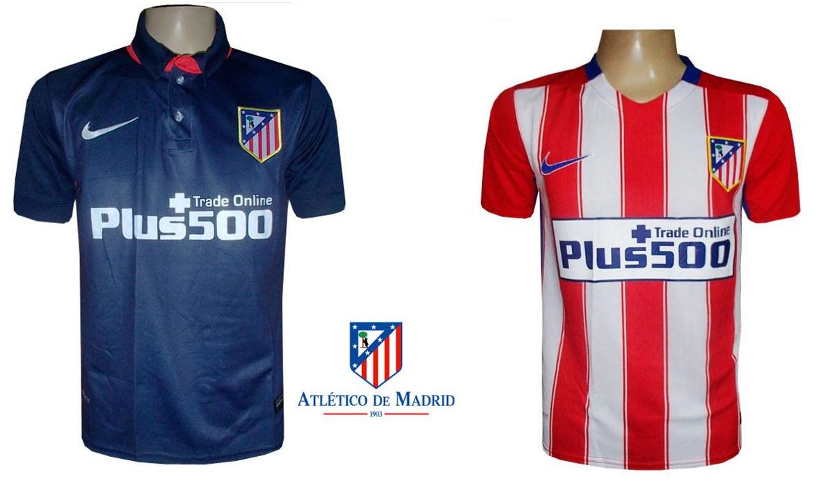 camisa atletico de madrid (2 modelos). Carregando zoom. bf05431960955