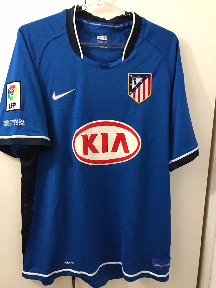 camisa atlético de madrid away azul - importada espanha. Carregando zoom. 2d73b5b4f11b3