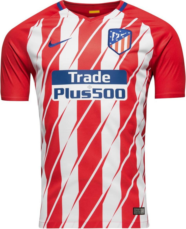 Camisa Nike Atlético De Madrid Home 2017 2018 Nº7 Griezmann - R  179 ... 5893e2447c65b