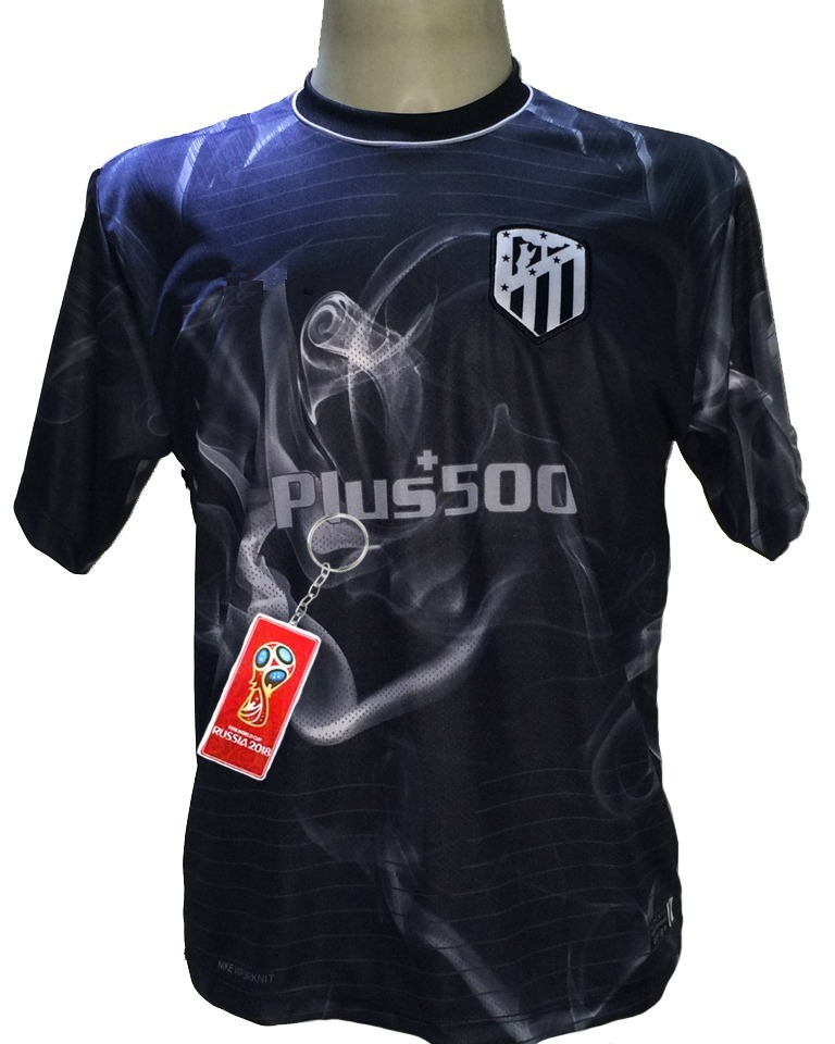 camisa atletico madrid preto nova 2019. Carregando zoom. 3be335921b7e3