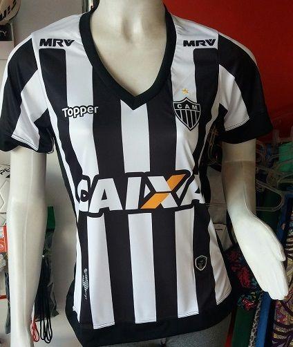 15346254abcea Camisa Atletico Mineiro 2017 2018 Feminina Importada - R  79