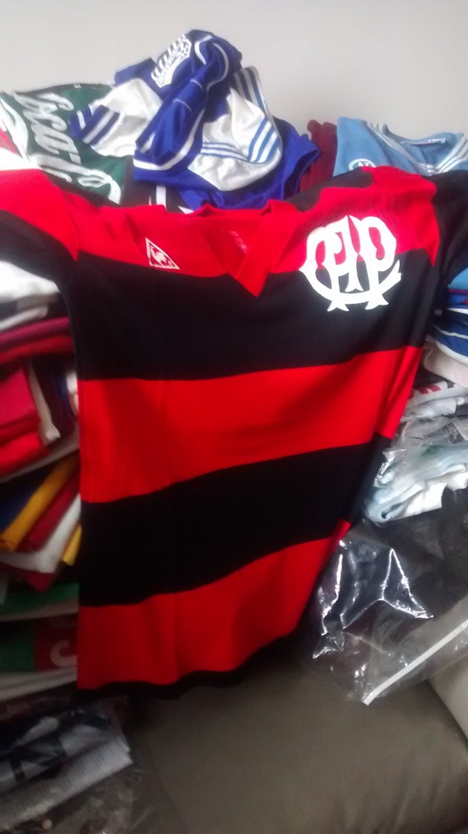 Camisa Atlético Paranaense Original De Jogo De 1982 84b260e6af64f