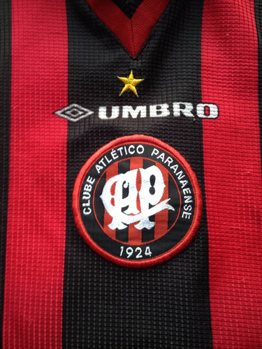 camisa atlético paranaense pr rubro-negra umbro 1999/2000