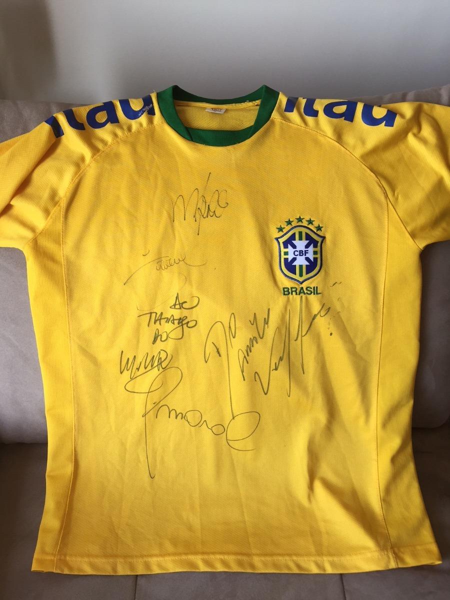 d9a00564d66c6 camisa autografada seleção brasileira. Carregando zoom.