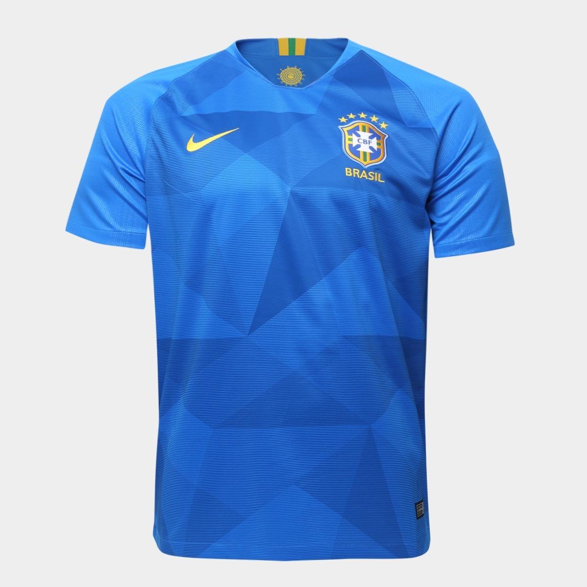 Camisa Azul Brasil Masculina Modelo 2018