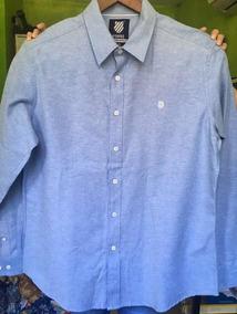 descuento en venta Promoción de ventas auténtico Camisa Azul Formal Marca K. Swiss