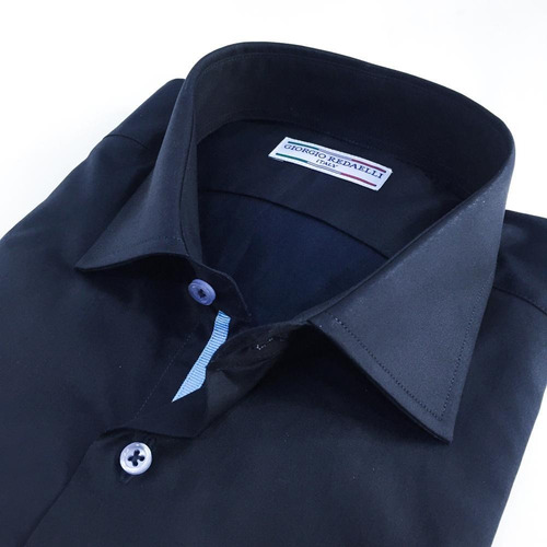 camisa azul noche interno celeste