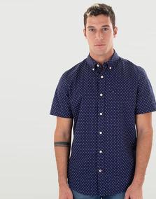 lo último e0503 0e4fd Camisa Azul Oscura De Puntos - Tommy Hilfiger