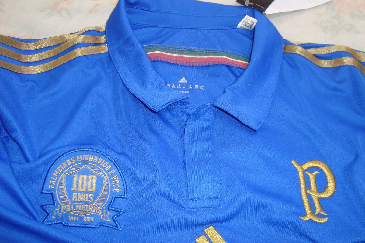 camisa azul palmeiras centenário original nova frete grátis. Carregando zoom . 0f620e6c4e23d